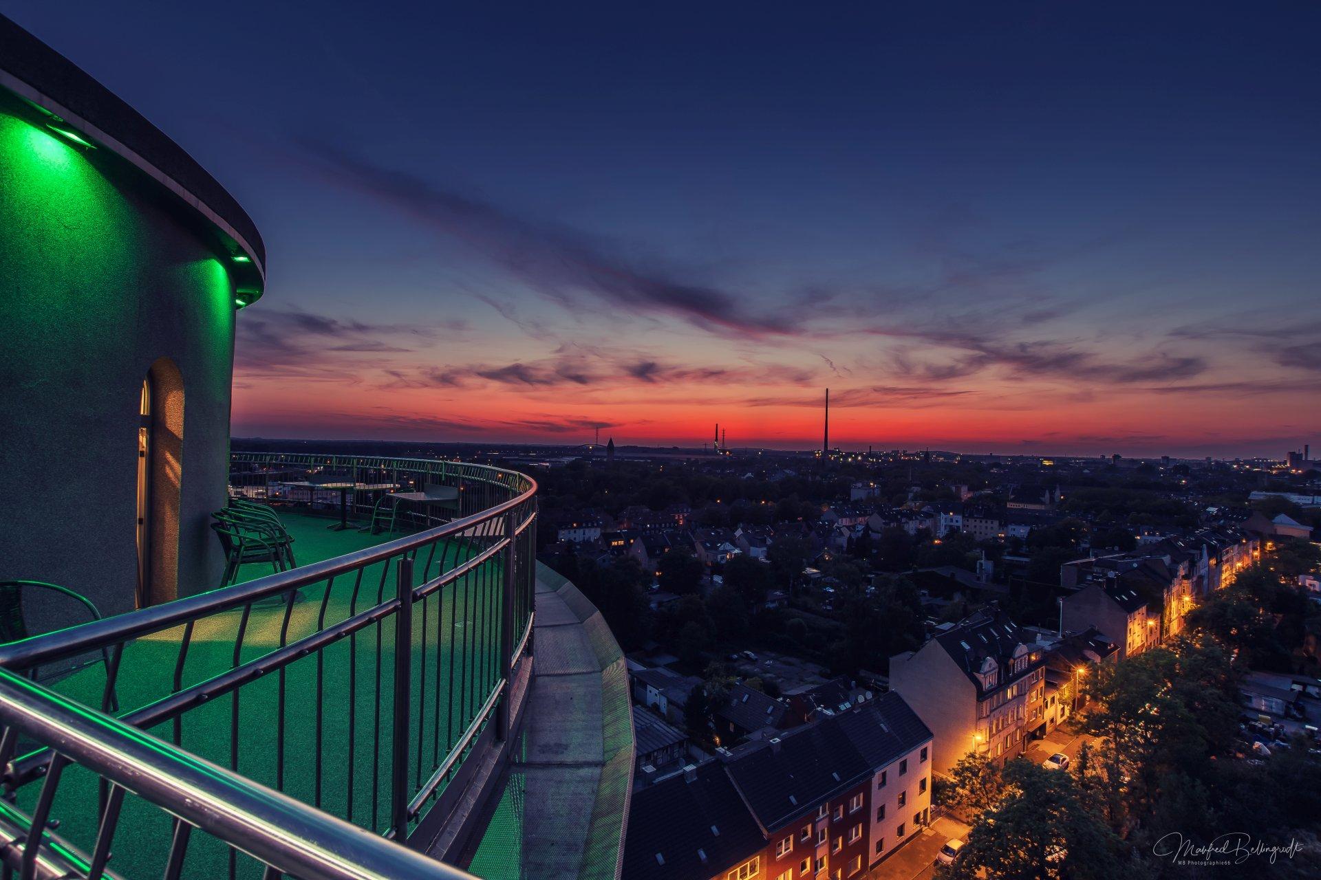 Akkurt Wasserturm Sonnenuntergang