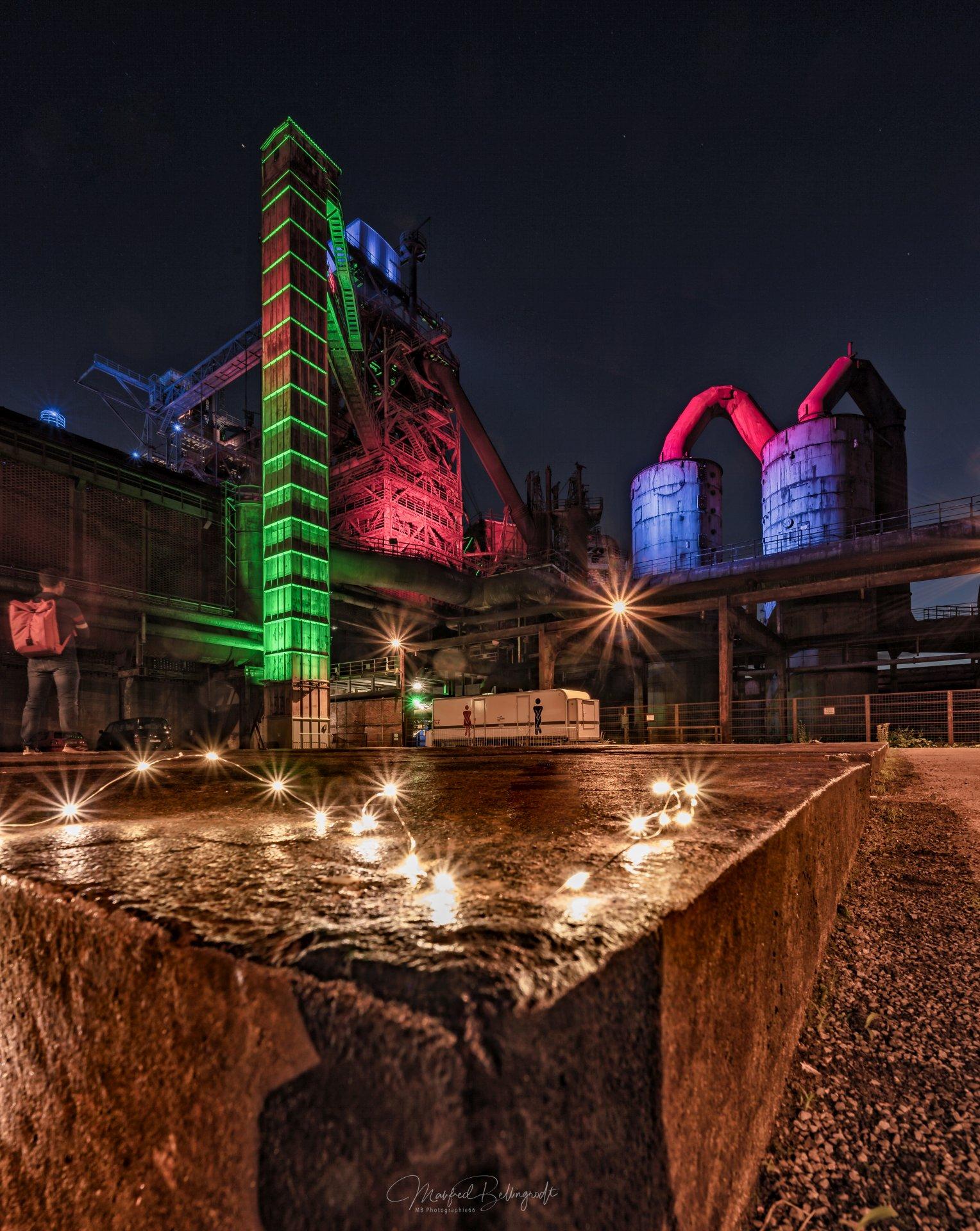 Landschaftspark Duisburg, Holzturm und Lights